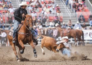 On Sunday, July 22nd, 2012, J.R. Vezain competes in the 102nd annual Rodeo in Salinas, California.