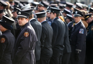 Hundreds of firefighters from around the country came to honor Tomasz Kaczowka at his funeral in Rochester, NY on Monday, December 31, 2012. Kaczowka, 19, was one of two firefighters who was shot and killed while responding to a fire on Christmas Eve by William Spengler in Webster, NY.