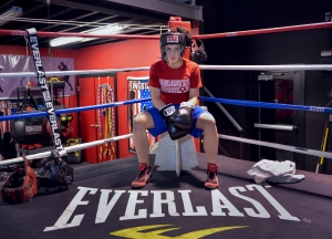 New York State Champion Celina Carissimi in the ring at her home gym in Geneva, NY January 27, 2013.