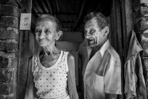Georgina Medina Calzada and Martin Cantiyo Hernandez have been married for 53 years and live in a small house in Trinidad, Cuba. Photo by Sarah Ann Jump