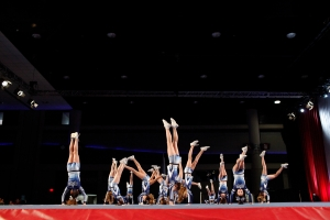 Storm Athletics, a gym out of Hinsdale, NY, competes at American Majestic, a National qualifying competition for varsity cheerleaders in Buffalo, NY.