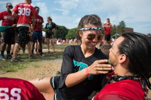 Sharon Corcoran and Danny Limengelli share a moment at Mud Tug on September 19, 2015. The couple reunited that day after six weeks apart since Danny is now working in Madison, WI while Sharon is a senior at Rochester Institute of Technology.